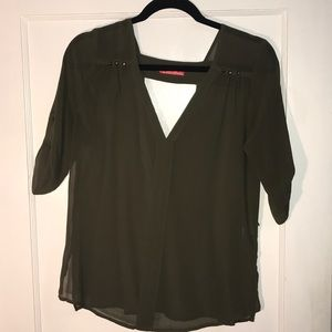 3/4 sleeve green top